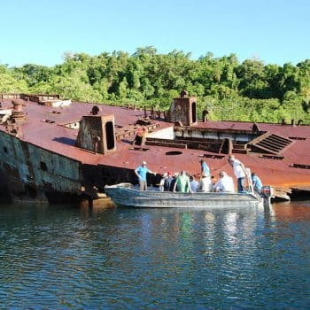 Exploring WW2 relics - Guadalcanal and HMAS Canberra Anniversary Tour
