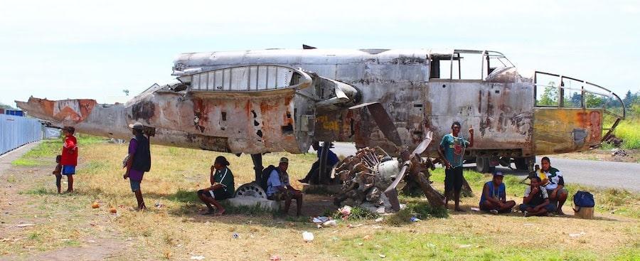An old World War 2 relic outside Girua airport - Beachheads Tour